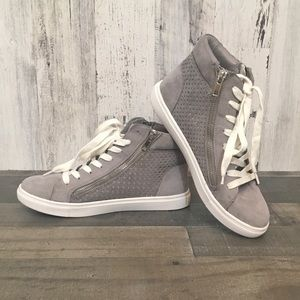 "Steve Madden ""Elyka"" Grey Hightop Sneaker 8"